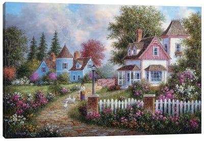 Asheville Lane Canvas Art Print