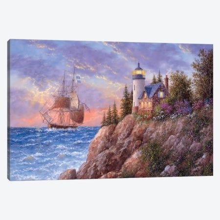 A Beacon to the Sea Canvas Print #LWN1} by Dennis Lewan Canvas Art