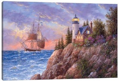 A Beacon to the Sea Canvas Art Print