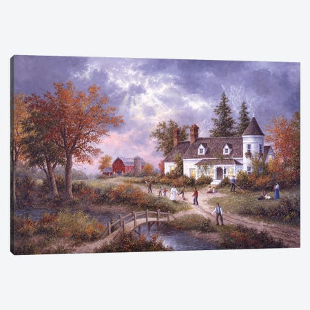 Autumn Angels Canvas Print #LWN21} by Dennis Lewan Canvas Art