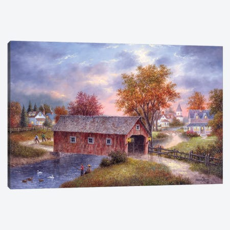 Autumn Daze Canvas Print #LWN22} by Dennis Lewan Canvas Wall Art