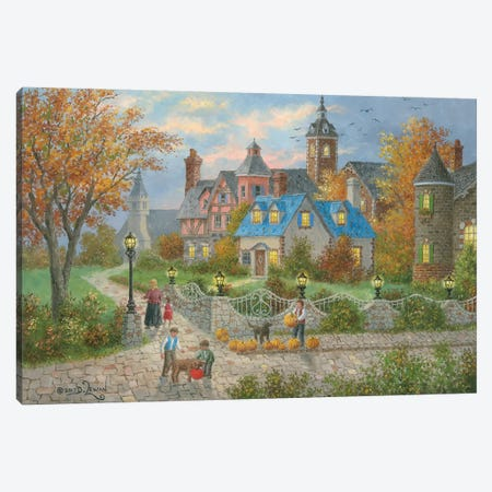 Autumn in the City Canvas Print #LWN23} by Dennis Lewan Canvas Artwork