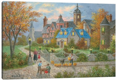 Autumn in the City Canvas Art Print