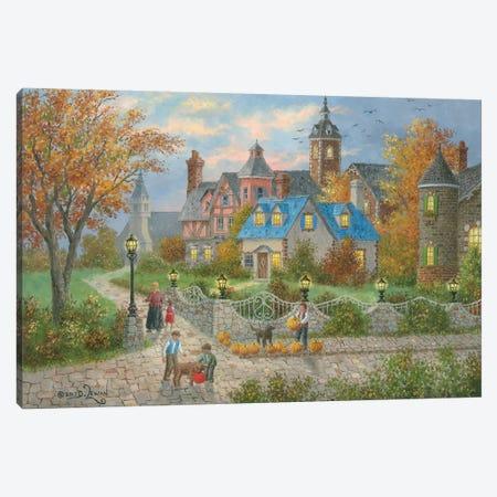Autumn in the City Canvas Print #LWN23} by Dennis Lewan Canvas Artwork