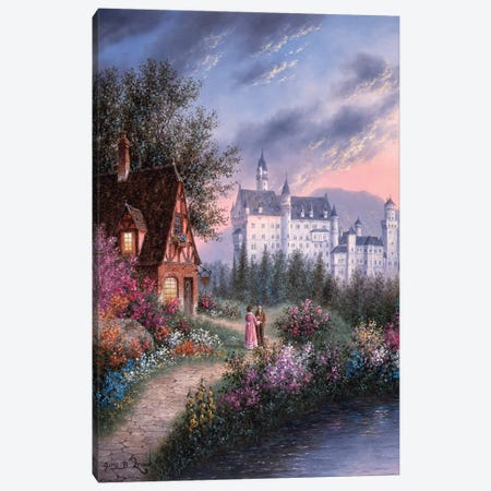 Bavarian Castle Canvas Print #LWN24} by Dennis Lewan Art Print
