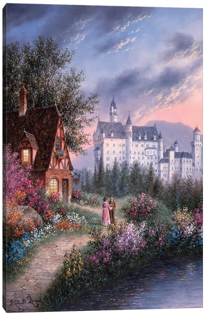 Bavarian Castle Canvas Art Print