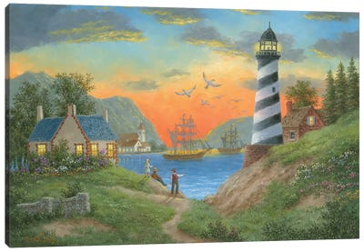 Bayside Lights Canvas Art Print