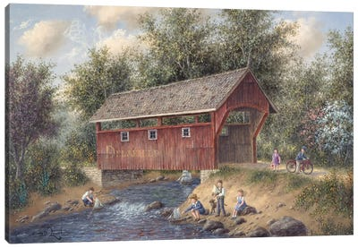 Boating Near Delafield Canvas Art Print