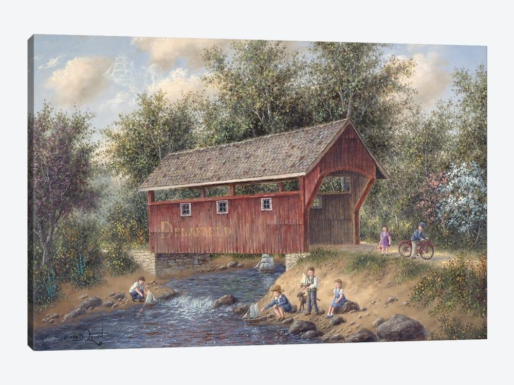 Boating Near Delafield by Dennis Lewan 1-piece Canvas Art
