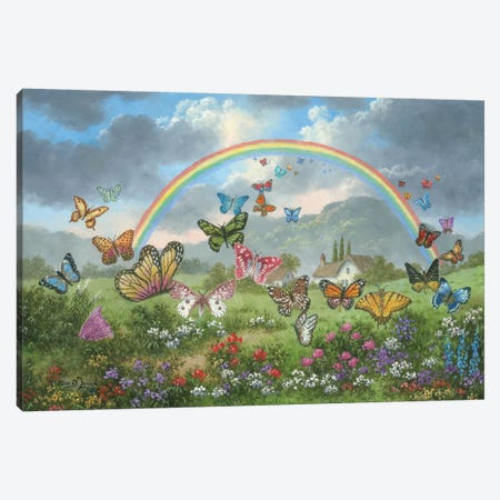 Butterfly Holiday Canvas Print #LWN34} by Dennis Lewan Canvas Art