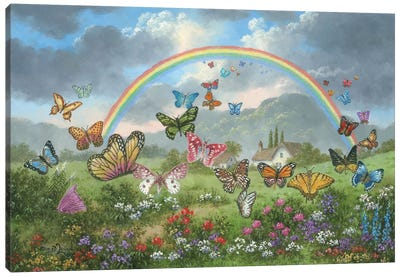 Butterfly Holiday Canvas Art Print