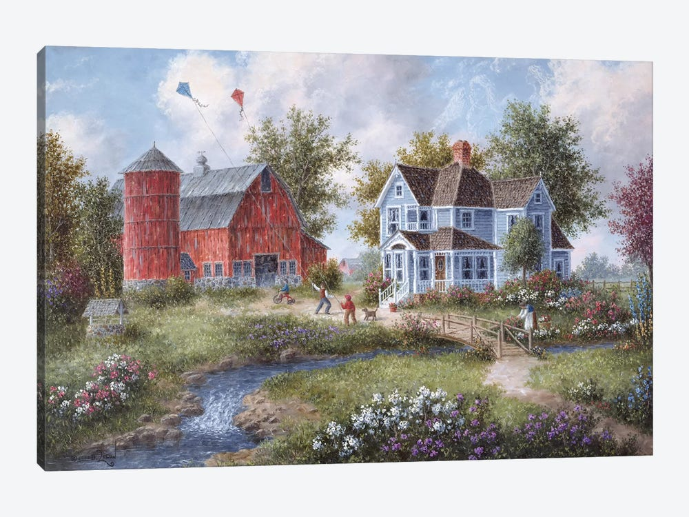Catching the Wind by Dennis Lewan 1-piece Canvas Art Print