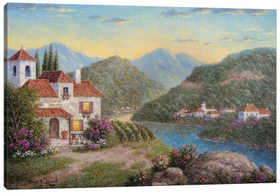 Cliffside Winery Canvas Art Print