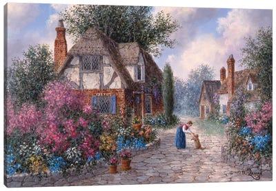 Cobblestone Lane Canvas Art Print
