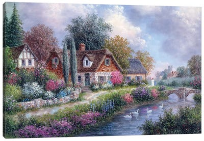 Cotswold's Neighborhood Canvas Art Print