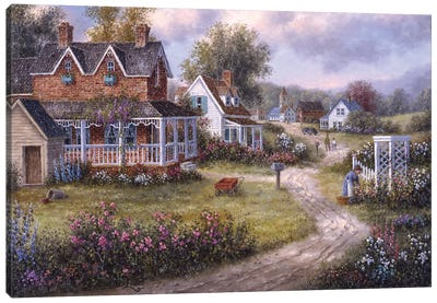 Country Hamlet Canvas Art Print
