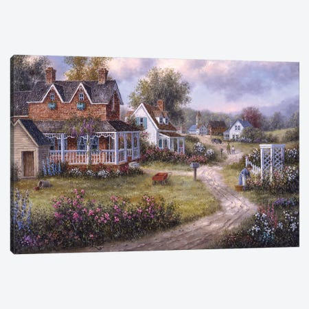 Country Hamlet Canvas Print #LWN45} by Dennis Lewan Art Print