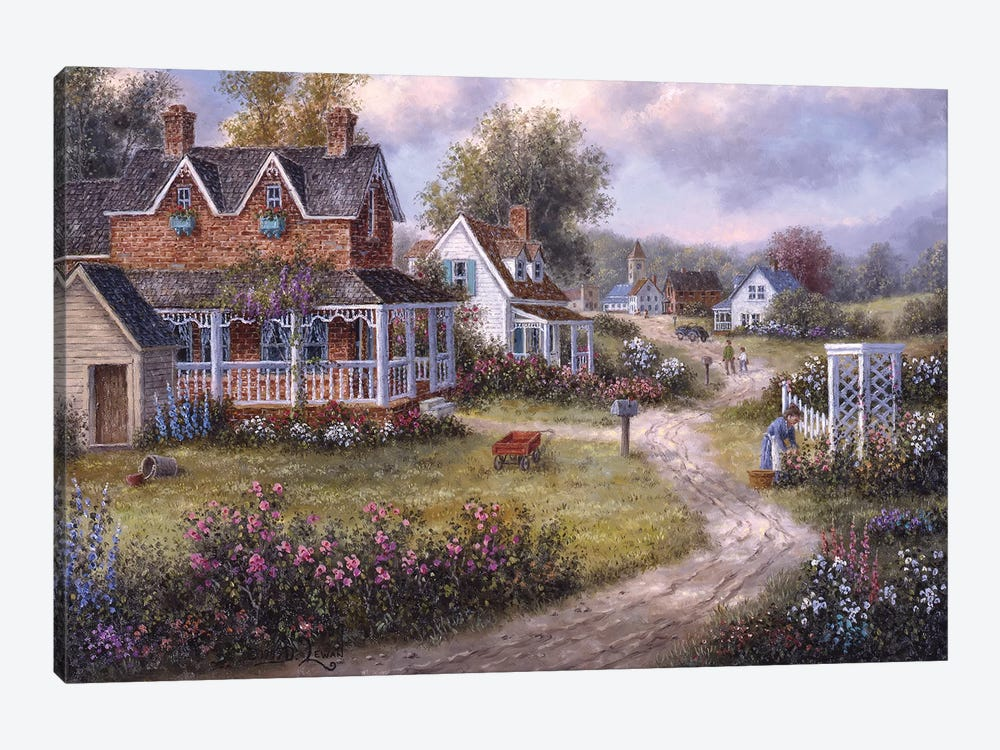 Country Hamlet by Dennis Lewan 1-piece Canvas Wall Art