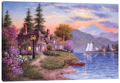 Crescent Ridge Cove Canvas Art Print