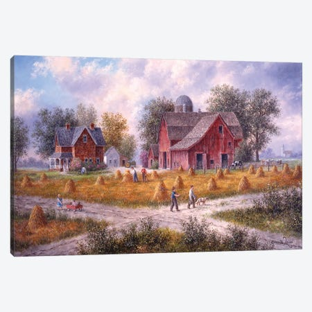Cross-Roads of America Canvas Print #LWN47} by Dennis Lewan Art Print
