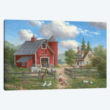 Down On the Farm Canvas Print #LWN48} by Dennis Lewan Canvas Artwork