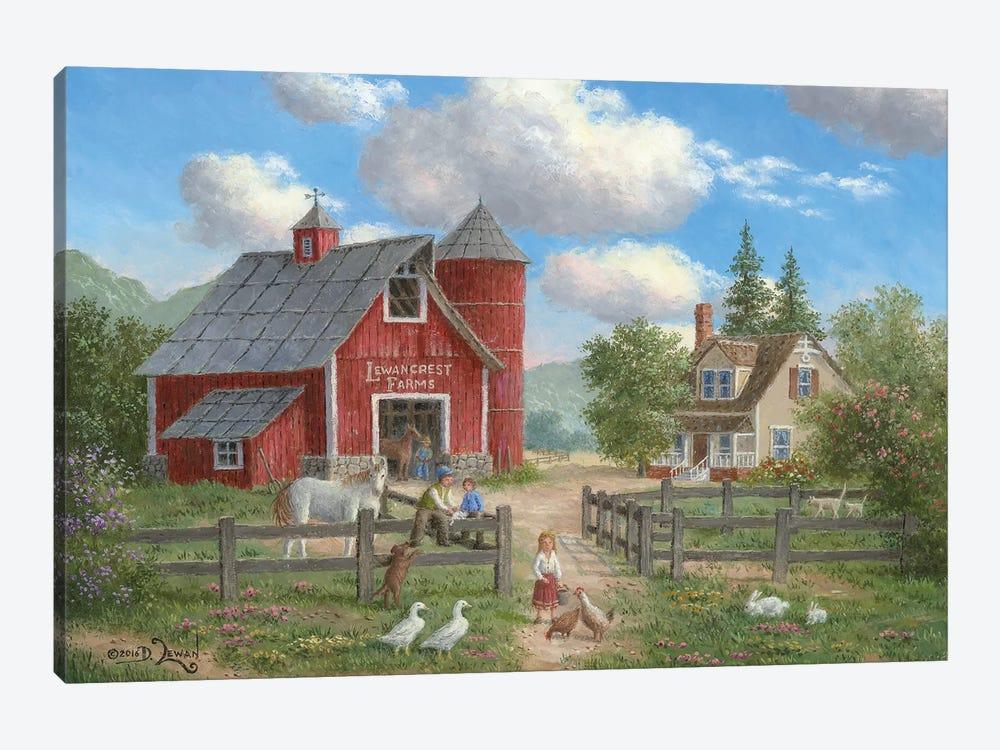 Down On the Farm by Dennis Lewan 1-piece Canvas Art Print