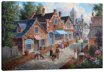 A Nice Day in Old-Town Canvas Art Print