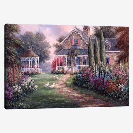 Elmira's Cottage Canvas Print #LWN50} by Dennis Lewan Art Print
