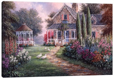 Elmira's Cottage Canvas Art Print
