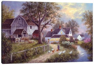 Evening Chores Canvas Art Print
