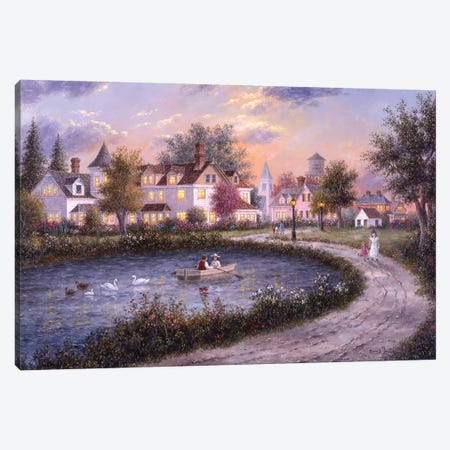 Evening Romance Canvas Print #LWN53} by Dennis Lewan Canvas Art Print