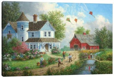 Flight of the Kites Canvas Art Print