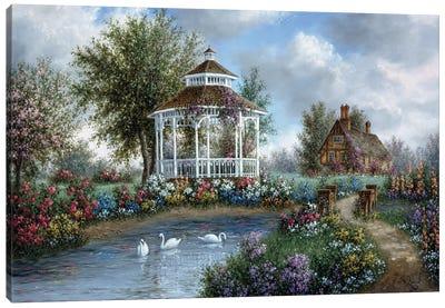 Garden Gazebo Canvas Art Print