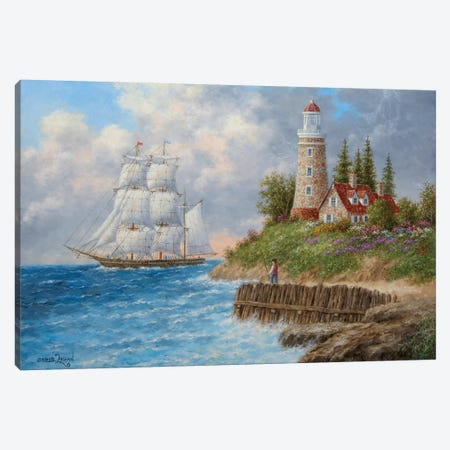A Passing Voyager Canvas Print #LWN5} by Dennis Lewan Art Print