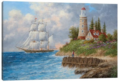 A Passing Voyager Canvas Art Print