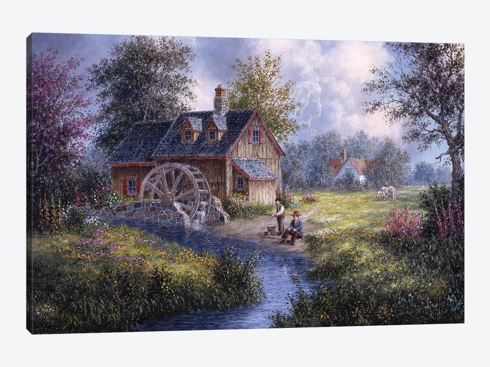 Gone Fishing by Dennis Lewan 1-piece Canvas Print