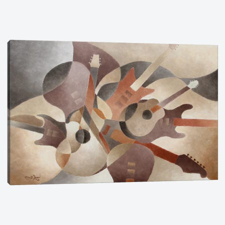 Guitar Symphony Canvas Print #LWN64} by Dennis Lewan Canvas Art Print
