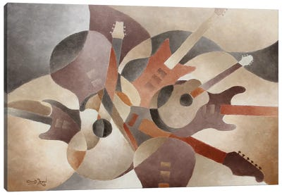 Guitar Symphony Canvas Art Print