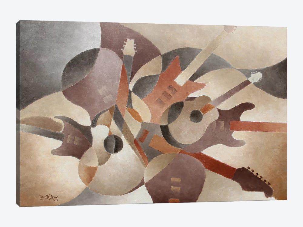 Guitar Symphony by Dennis Lewan 1-piece Canvas Art Print