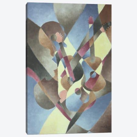 Guitars and Cello Canvas Print #LWN65} by Dennis Lewan Art Print