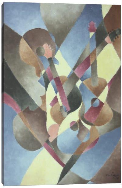 Guitars and Cello Canvas Art Print
