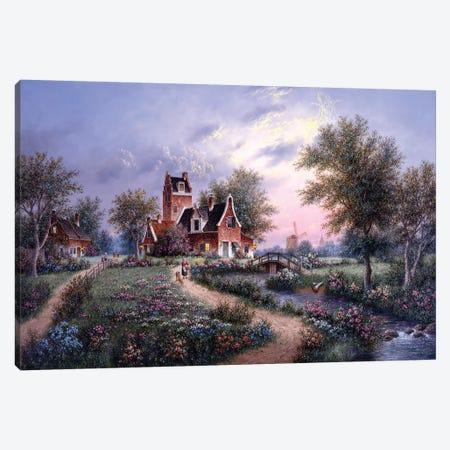 A Peaceful Eve, Holland Canvas Print #LWN6} by Dennis Lewan Canvas Print