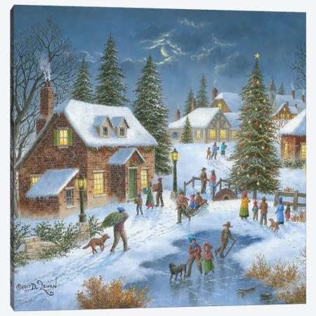 Holiday Celebration Canvas Print #LWN70} by Dennis Lewan Canvas Art Print