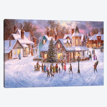 Holiday Eve Canvas Print #LWN71} by Dennis Lewan Art Print