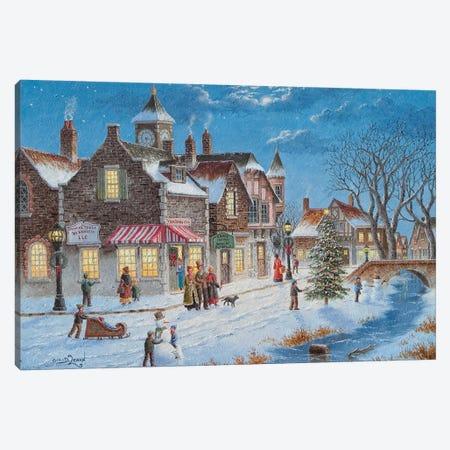 Holiday on Main Street Canvas Print #LWN72} by Dennis Lewan Art Print