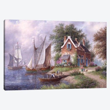 Home From a Voyage Canvas Print #LWN73} by Dennis Lewan Canvas Art Print