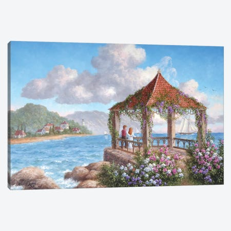 Honeymoon Paradise Canvas Print #LWN74} by Dennis Lewan Canvas Wall Art