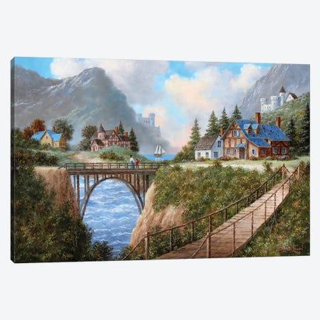 Land of Bridges Canvas Print #LWN78} by Dennis Lewan Canvas Print