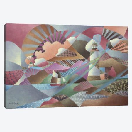 Lighthouse 3-Piece Canvas #LWN79} by Dennis Lewan Art Print
