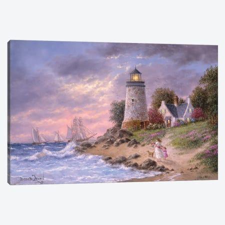 A Sailor's home Coming Canvas Print #LWN7} by Dennis Lewan Canvas Art Print